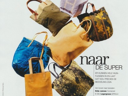 SPRDLX bag 'MARK' in LINDA Magazine!